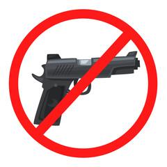 No weapon sign. Cartoon wector illustration
