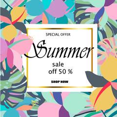 Summer sale Concept.
