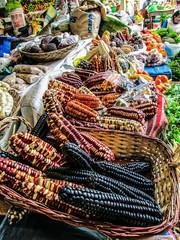 Peruvian corn in a small town farmers' market