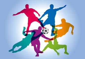 football - foot - footballeur - ballon - silhouette - coupe du monde - sportif