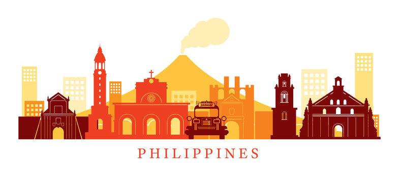 Philippines Architecture Landmarks Skyline, Shape
