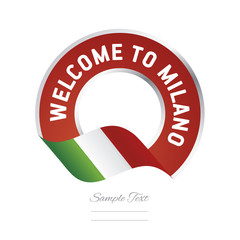 Welcome to Milano Italy flag logo icon
