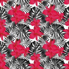 seamless tropical flower pattern