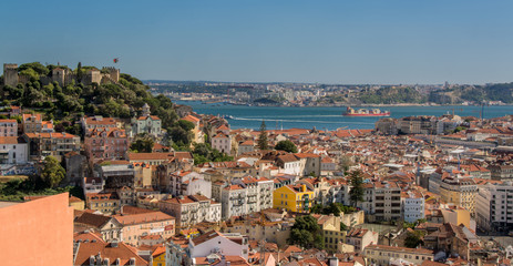view of Lisbon Portugal.