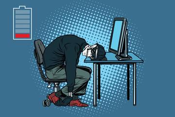 dead hacker skeleton at the computer