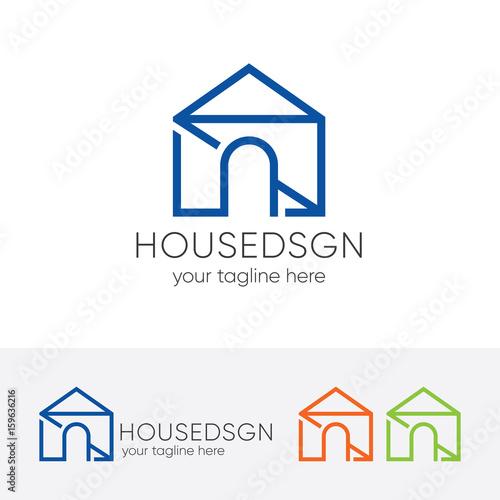 Modern house logo architecture logo vector logo for Modern house logo