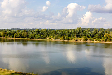 View of the historic Cumberland Riverat Fort Donelson near Dover in Tennessee