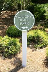 Coligny Beach Park sign in Hilton Head SC
