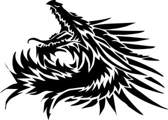 line art - the circle of dragon