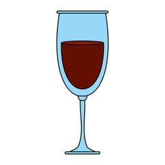 Delicious wine drink cup icon vector illustration design graphic flat