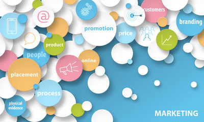 MARKETING Key Terms and Symbols Concept Banner