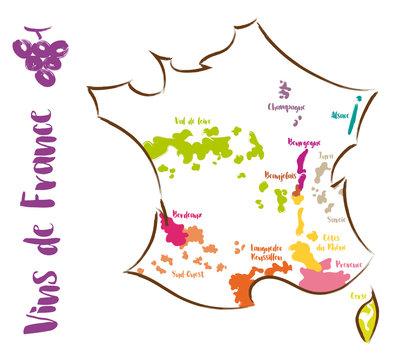 Carte des Vins de France
