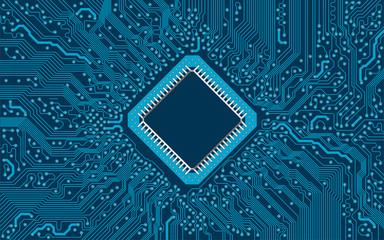 Computer Platine Vektor blauer Hintergrund