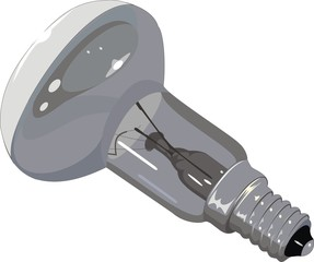 incandescent lamp against the white background