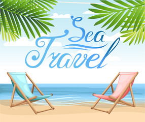 Landscape ocean summer water holiday travel Beach and tropical sea with bright sun