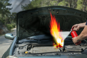 Car failure and Fire in the car