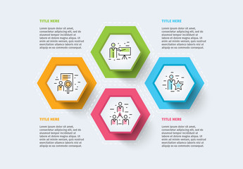 Colorful Illustrated Four Section Inforgraphic Layout