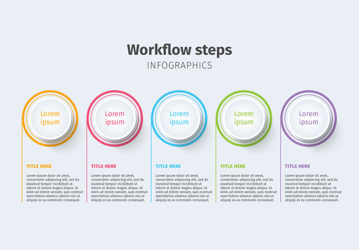 Colorful Five Section Infographic Layout