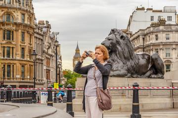 Portrait of senior  woman in Westminster, London, UK