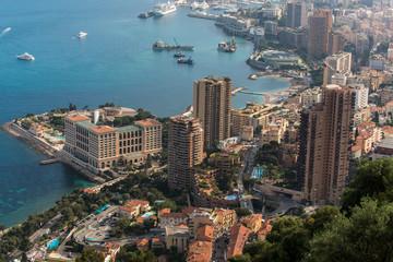 Montecarlo, capital of the country Monaco at the Mediterranean Sea