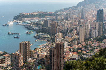 Montecarlo, capital of the country Monaco at the Mediterranean Sea