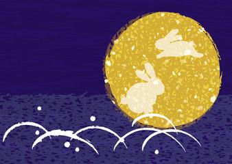 月とうさぎ バックグラウンド