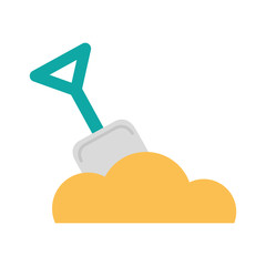 shovel beach isolated icon vector illustration design