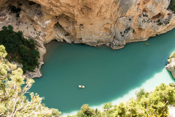 Gorge du Verdon, wilderness Landscape of Provence France