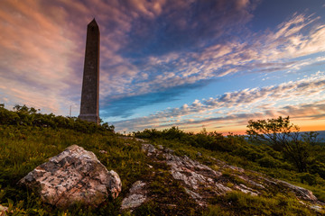 Monument marks top of New Jersey at High Point State Park