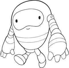 Robot Vector Illustration Art