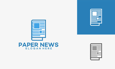 Modern Newspaper Logo template designs vector illustration