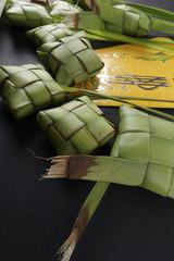 Rice dumpling and money packet decoration for Eid Mubarak celebration.