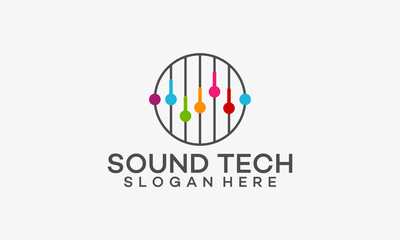 Equalizer Logo template, Sound Technology Logo template designs  vector illustration