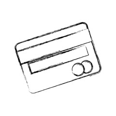 credit card icon over white background vector illustration