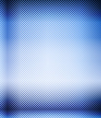 Blue halftone techno background. Vector illustration