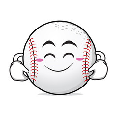 Cute smile baseball cartoon character