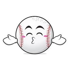 Kissing closed eyes baseball character