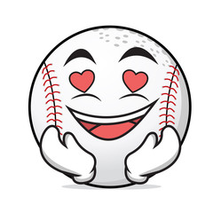 In love baseball cartoon character