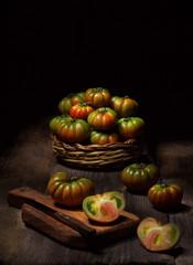 Natura morta con pomodori di pachino