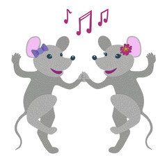 Couple of mice dancing