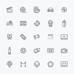 theater Line icons vector illustration