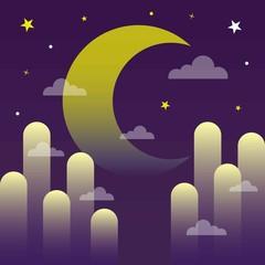 night background vector illustration