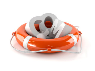 Life buoy with COM letters