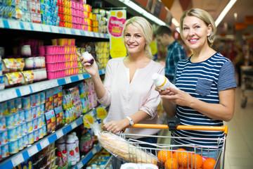 customers choosing fruit yoghurt