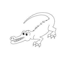 Funny Crocodile for coloring book