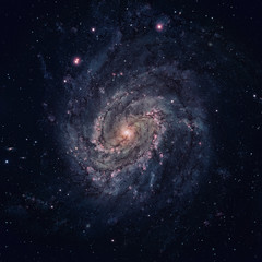 Messier 83 is a barred spiral galaxy in the constellation Hydra. Elements of this image furnished by NASA.