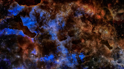 Starry outer space background texture. Science art. Elements of this image furnished by NASA.
