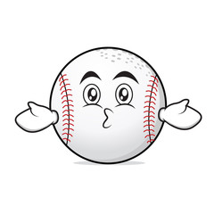 Kissing face baseball cartoon character