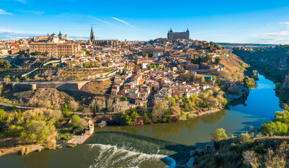 Panorama of Toledo, Spain Wall mural