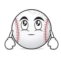 Eye roll baseball cartoon character